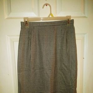Talbot's Houndstooth Pencil Skirt